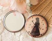 Pocket Mirror - Mirror - Compact mirror - Miss Shadow - Mushroom