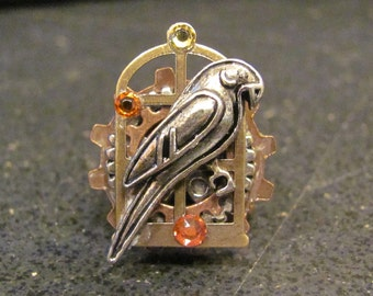 Steampunk Parrot Ring