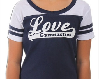 Love Gymnastics T-Shirt by Snowflake Designs