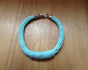 Crochet cotton rope necklace