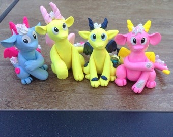 Decoden Polymer Clay Dragon Figure