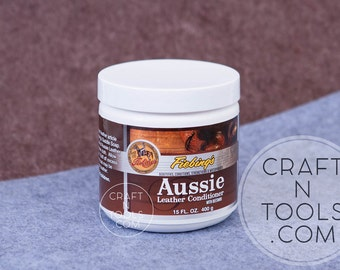 Fiebing's Aussie Leather Conditioner with Beeswax 15oz/400g/Tack Conditioner/Leather Sealant/Saddle Care/Leather Restore/Boot Shoe Care