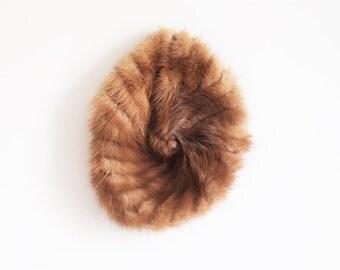 SALE - Vintage 1950s mink fur hat