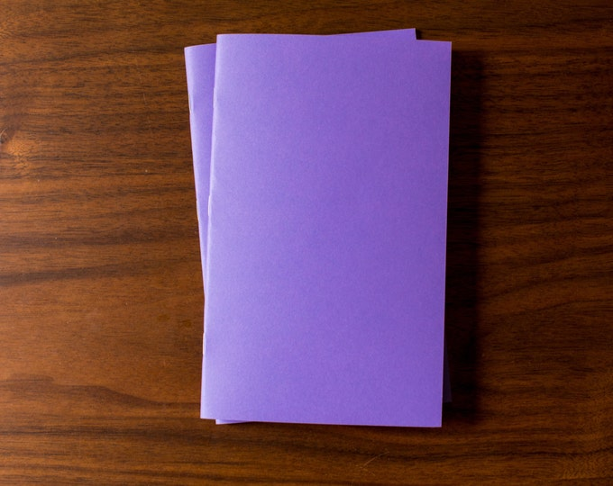 Purple Notebooks - 5 Pack Journal, Planner, Journal Insert, Planner Insert Mini Diaries, Jotters, Blank Books, Paper Notebook, bulk