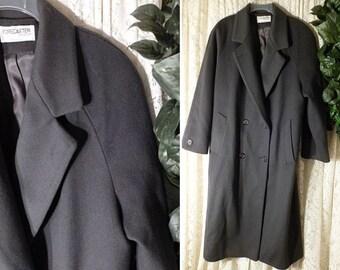 Vintage MACKINTOSH WOOL COAT Size Medium to Large Navy Blue