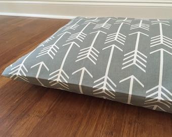 Dog Bed Cover, Gray Dog bed Duvet, Gray dog bed covers, Arrows dog bed cover, Tribal gray Dog Bed cover