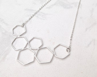 Sterling silver / Hex necklace