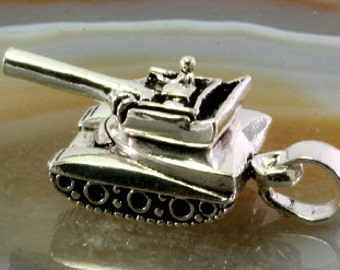 tank - 925 sterling silver pendant   --   4106