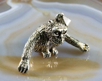 Monkey pendant in 925 Sterling Silver,movable   ---  4918