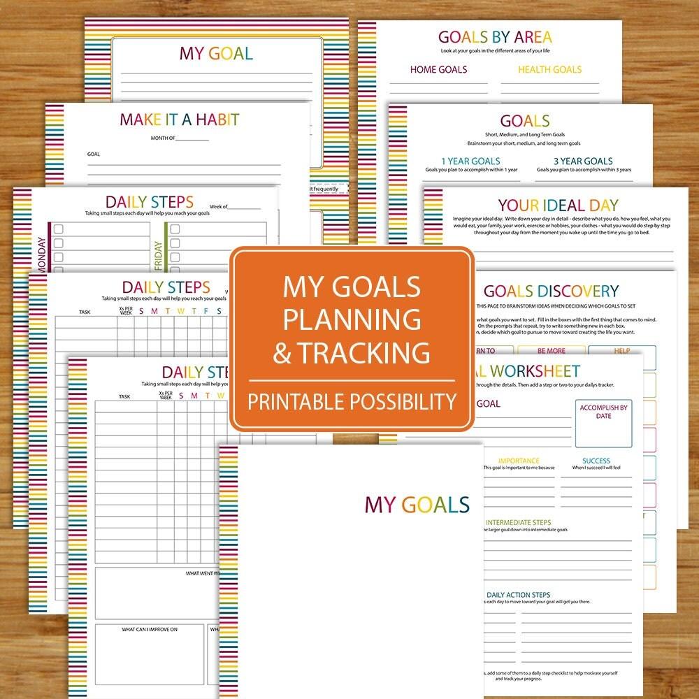Goal planning – Fitness Goals Worksheet