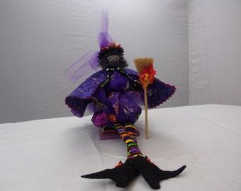 Halloween purple witch