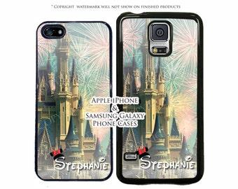 Disney Cinderella Castle Personalized Phone Case For Apple iPhone 7, 7 Plus, 6, 6 Plus, 5, 5C, SE, iPod Touch, Galaxy S8, S8 Plus, LG, Pixel