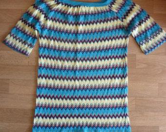 blue crochet Shirt