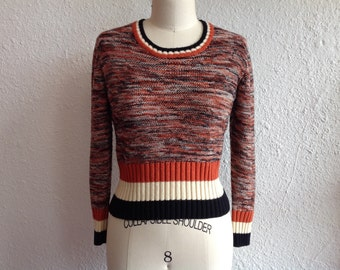 1970s space dyed cropped sweater