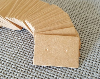 50 Kraft Earring Display Cards