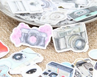 Camera Matt Stickers / Cute Stickers / Kawaii Stickers / New Stickers / Scrapbook Stickers / Funny Sticker TZ666