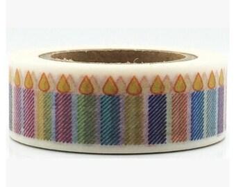 Birthday Candle  Washi Tape/Japanese Washi Tape / Deco tape TZ917