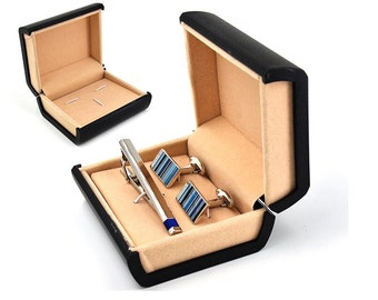 1 pcs of Cuff links and tie clip set packing box/ cuff link and tie bar box/Cufflink  box TZ334