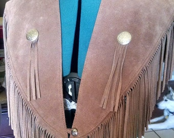 Fringed Leather Collar