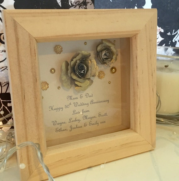 Gifts For Grandparents 50th Wedding Anniversary: 50th Anniversary Gift 50th Golden Anniversary Gift Small
