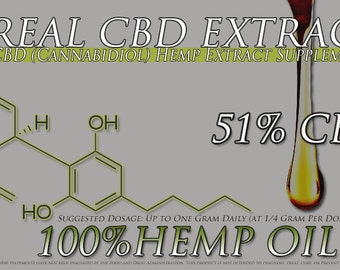 New 3 Gram Tube of CBD Oil Extracted From Organically Grown Top Strains 51% CBD 40 Percent Off