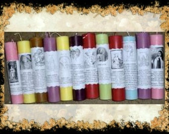 Saint Barbara Pillar Candle~Protection~Witch,Hoodoo,Voodoo,Spell Candle,Divine Assistance,Religious,Spiritual