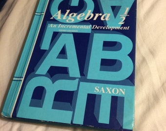 Amazing Saxon Algebra 1/2 3rd Edition Textbook- Best Mathematics Textbook!