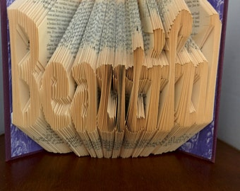 Beautiful - Folded Book Art - Fully Customizable, beauty, woman, life is beautiful