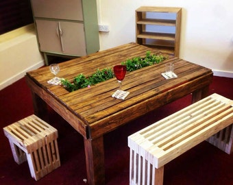 Patio / Garden Coffee Table made from reclaimed pallet wood