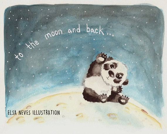 To the Moon and Back - panda love