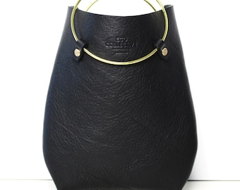 Leather Purse Handbag Statement Bag the O-Series