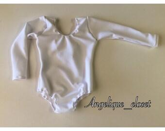 White Long Sleeve Bodysuit