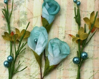 Petaloo - Calla Lillies & Berries -  Teal