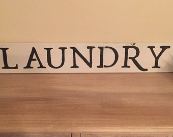 Rustic farmhouse laundry sign