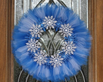 Frozen Snowflake Wreath