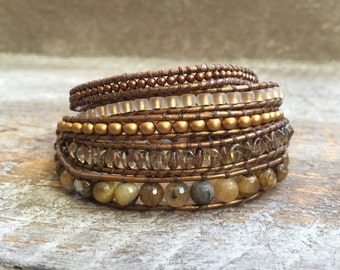 Tess Beaded Wrap Bracelet