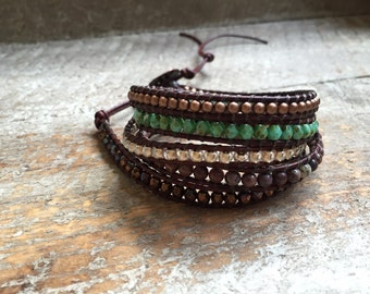 Gabi Beaded Wrap Bracelet