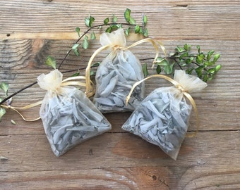 WHITE SAGE - Loose Herb Sachet - 0.3 oz.