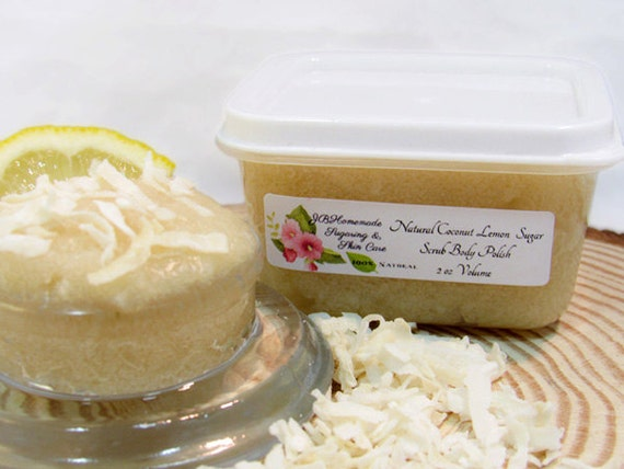 Coconut Lemon Sugar Scrub Body Polish 2 Oz