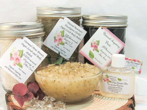 Sugaring Paste & Rosemary Eucalyptus Sugar Scrub Deluxe Bundle