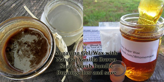 Sugaring Wax and Natural Vanilla Brown Sugar Polish Bundle Save 10% by JBHomemadeShop