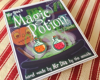 Mr Dan's Magic Potion Earring Studs