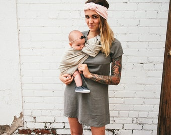 Linen Ring Sling, Baby Wrap, Baby Sling, Baby Carrier