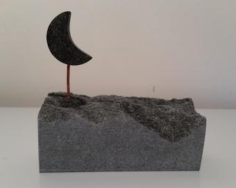 Soapstone Moon sculpture