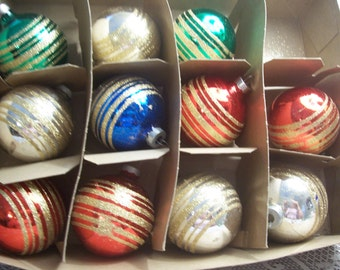 Eleven USA Christmas Ornaments