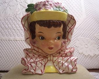 Enesco Lady with Huge Bow Headvase