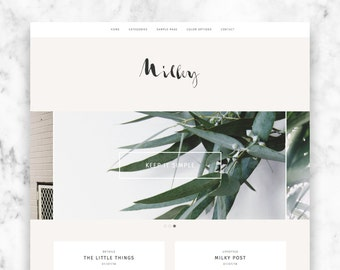 "modern wordpress theme ""MILKY"" - a responsive blog template"