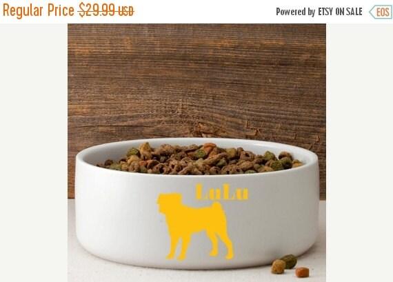 Ceramic Bowl Man S Best Friend Silhouette Large Dog Bowl