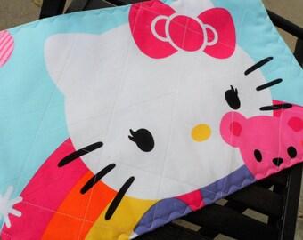 hello kitty make up brush holder/ brush roll/ brush holder/quilted brush roll
