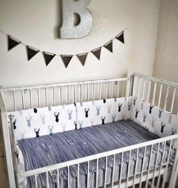 Crib Bedding Sets Tan Navy Grey Rustic Nursery And Toddler